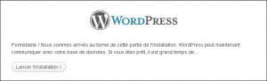 Installation de wordpress